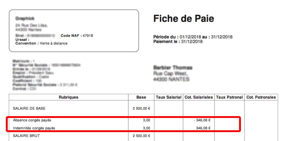 Gestion Des Conges Absences Arrets Fiche Paie Net